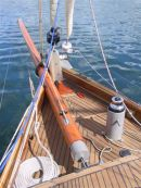 Foredeck strengthened to take the capstan and 18 ft bowsprit.